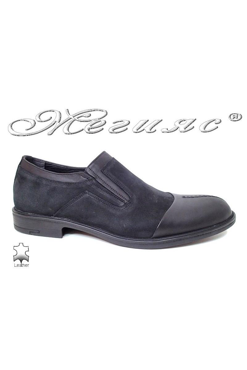 Мъжки обувки Fenomen 934  черни набук+ естествена кожа