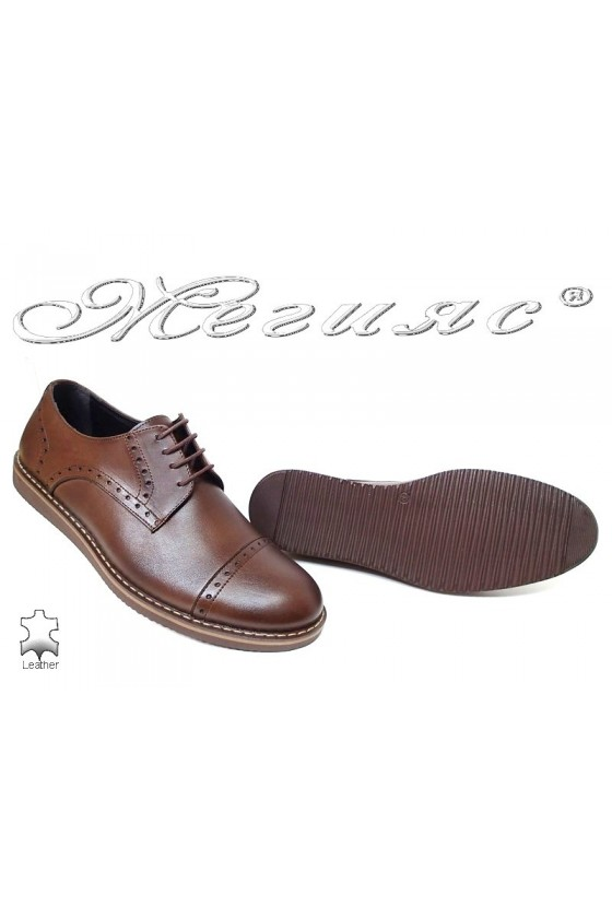 Men shoes Fenomens 554 brown leather
