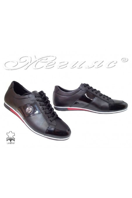 Men sport shoes Fantasia 816 black leather