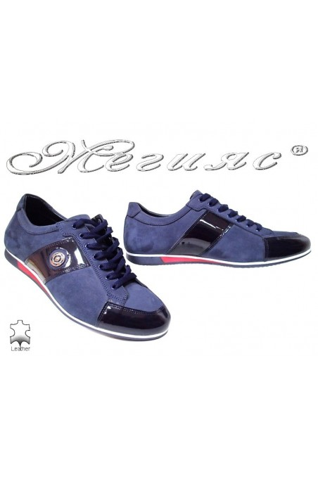 Men sport shoes 816 blue nubuck