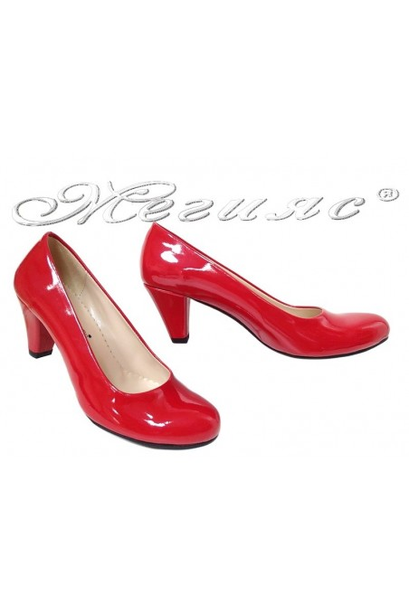 Lady elegants shoes 120 red pattent
