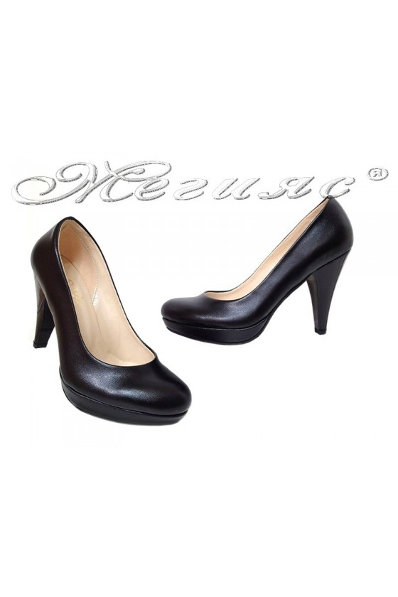 Lady shoes 520 black pu