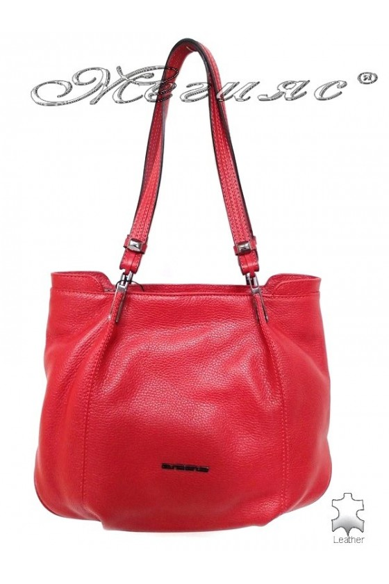 Lady bag 8769 red leather pu