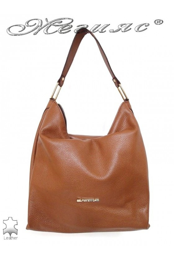 Lady bag 8702 camel leather pu