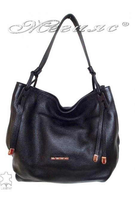 Bag 8587 black leather