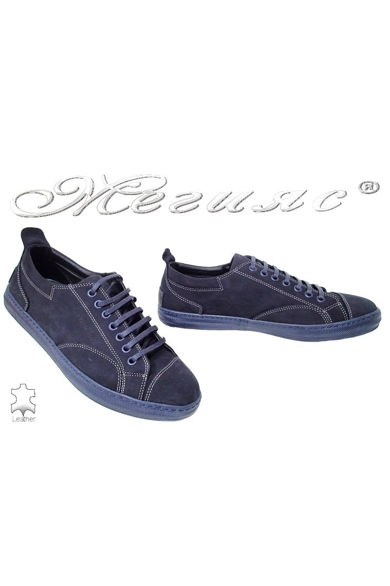 Men sport shoes Fantasia 010 blue nubuck