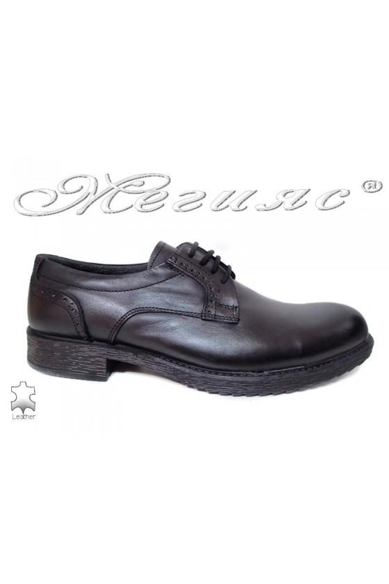 Men shoes 750 black leather