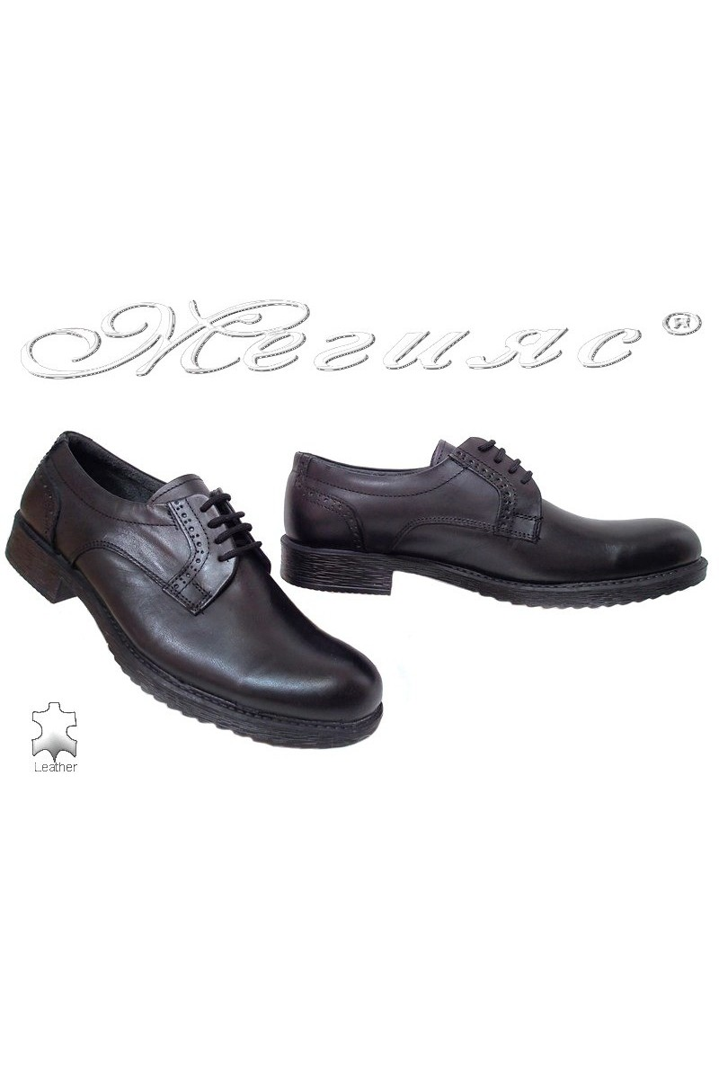 Men shoes 750 black leather