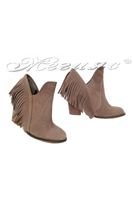 Lady boots 225 beige suede