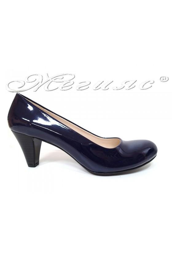 Lady elegants shoes 120 blue pattent pu