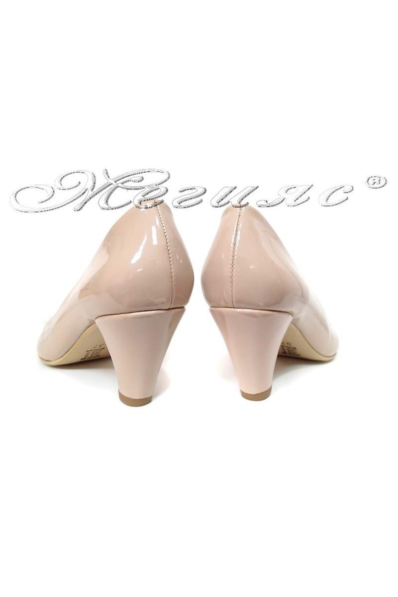 Lady elegants shoes 120 beige pattent