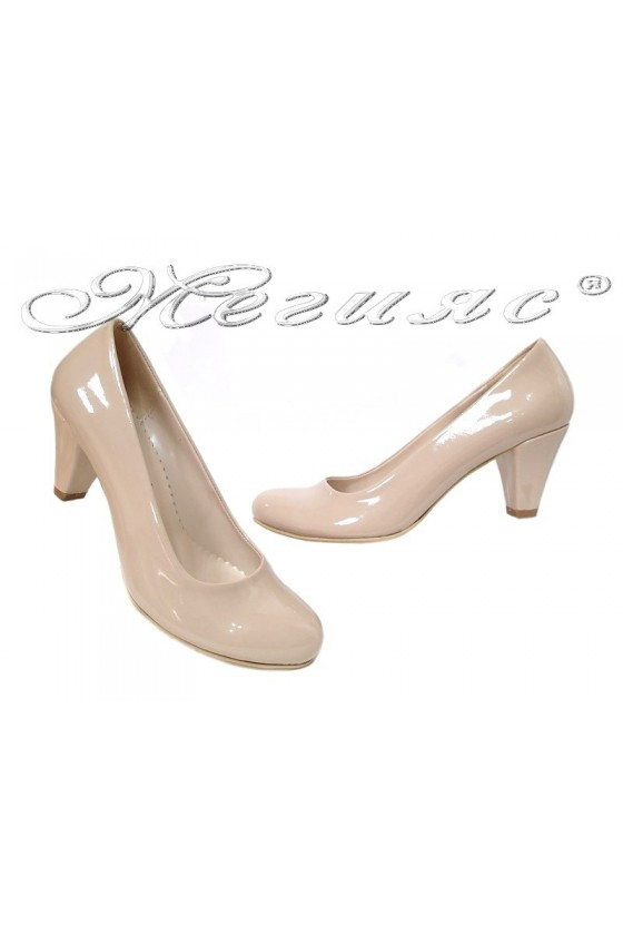 Lady elegants shoes 120 beige pattent