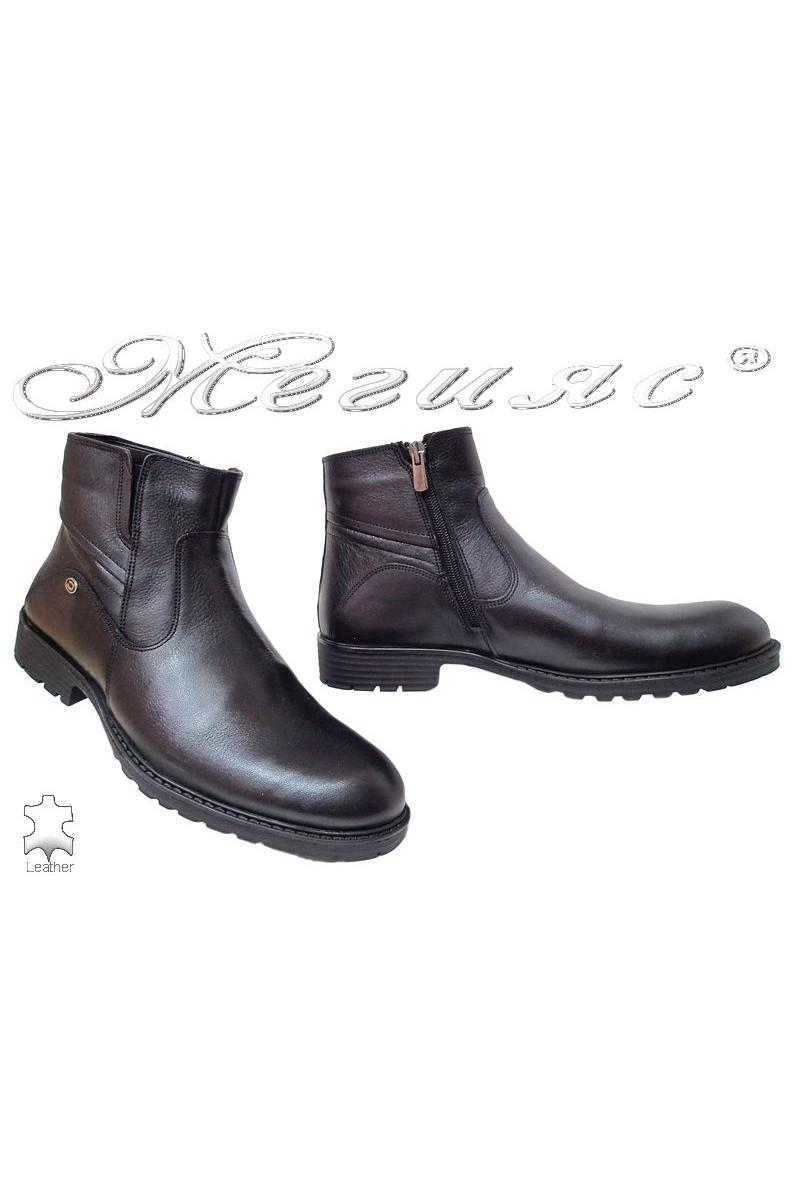 Men boots 7253 black leather
