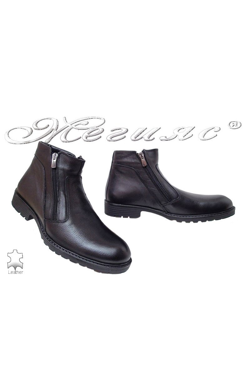 Men boots Fantasia 7257 black leather