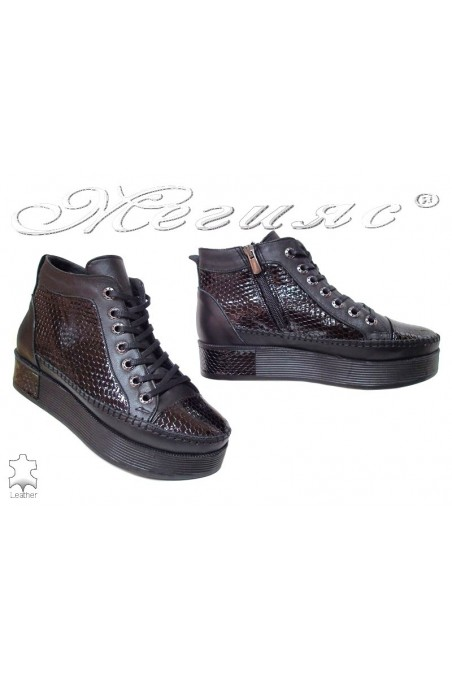 Lady sport boots 780-05 black leather