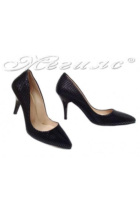 Lady elegants shoes1700 black suede