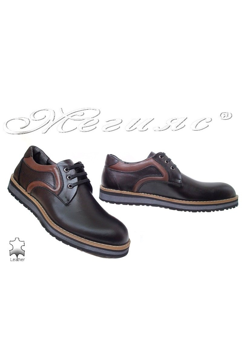 Men shoes Fenomens 905 black+ brown leather