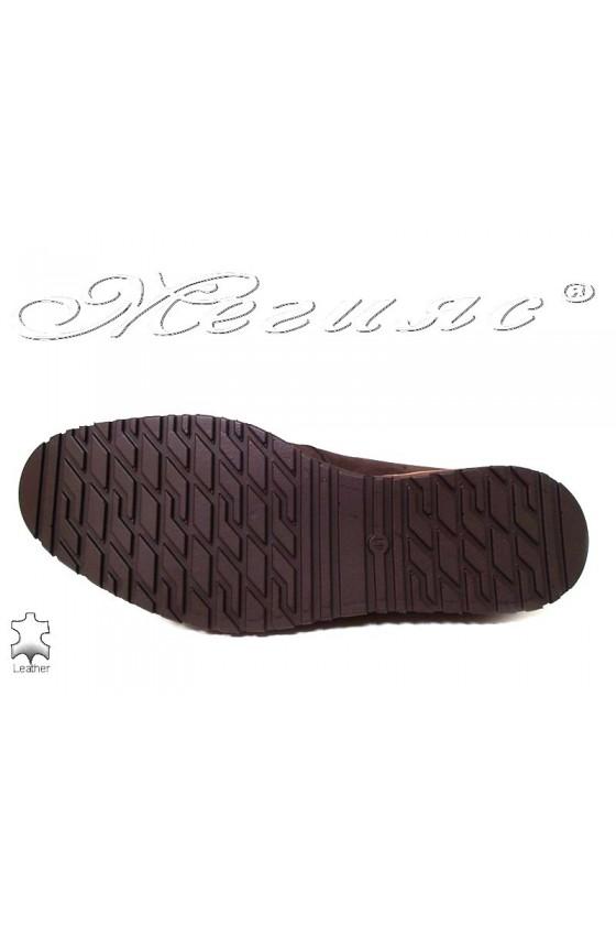 Men shoes Fenomens 901 brown nubuck leather