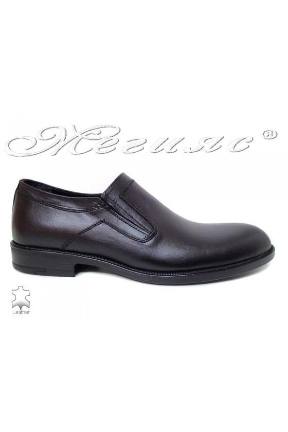 Мъжки обувки Fenomens 932 черни естествена кожа