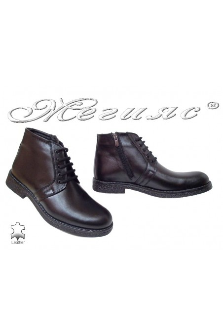 Men boots Fantazia 2302 black leather