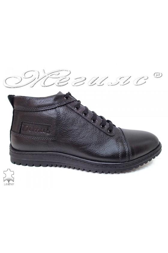 Men sport boots  620 black leather