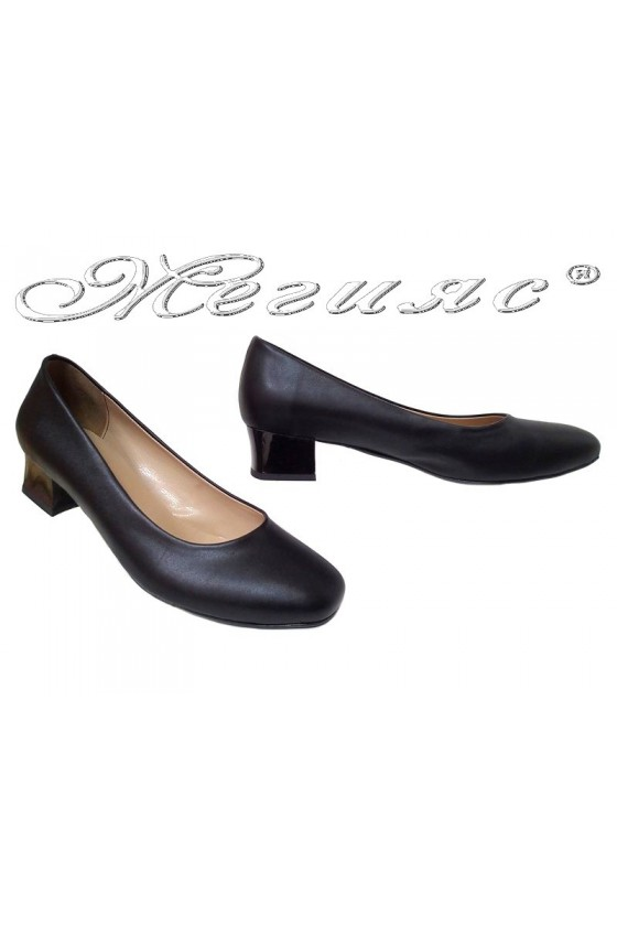 Lady shoes XXL 501 black pu gigant