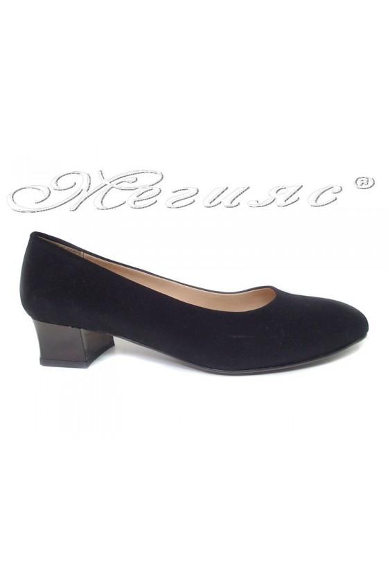 Lady shoes XXL 501 black nubuck gigant