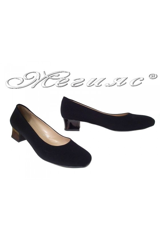 Lady shoes XXL 501 black nubuck gigant