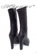 Lady boots 27-65 black leather pu
