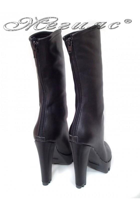 Lady boots 27-65 black leather pu