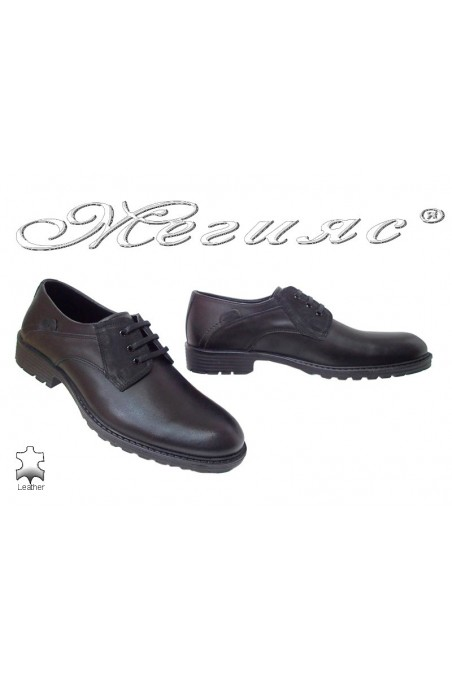 Men shoes FANTASIA 7201 casual black leather pu