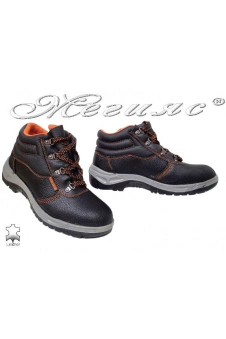 Men boots 8055 black leather