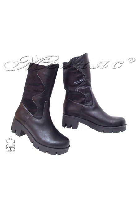 Women boots 913 black leather