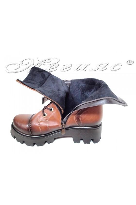 Ladi boots 720 brown pu leather