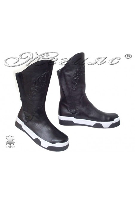 Women boots 1669 black lether