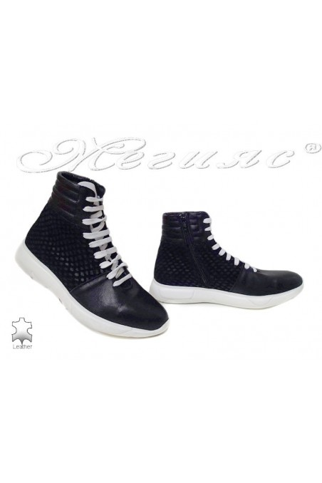 Women sport boots 1801 black leather
