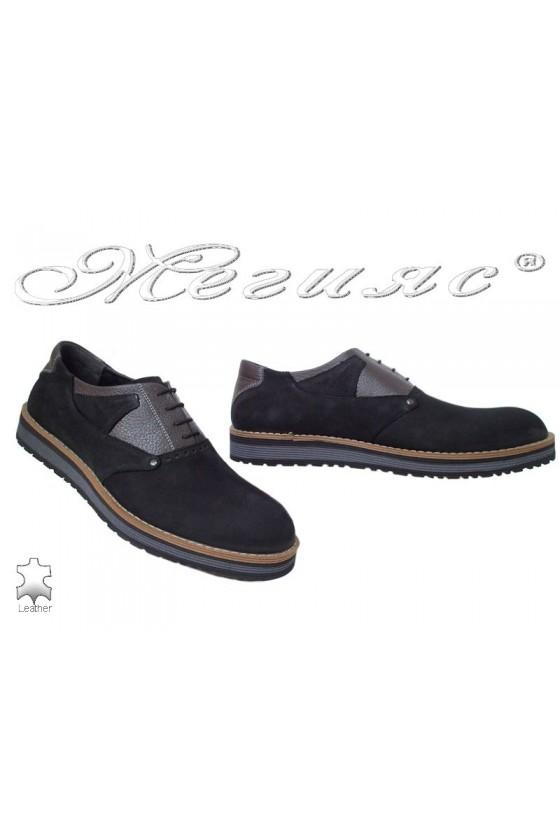 Мъжки обувки Fenomens 901 черни естествен набук