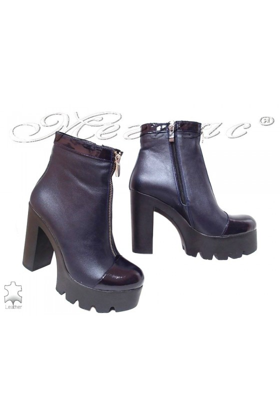 Lady boots 160 blue leather