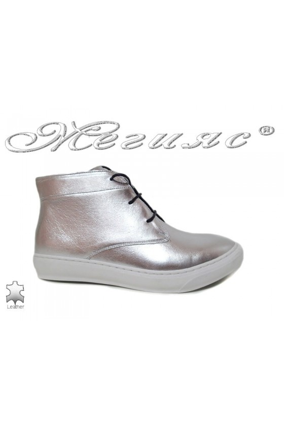 Women sport boots 601 siver leather