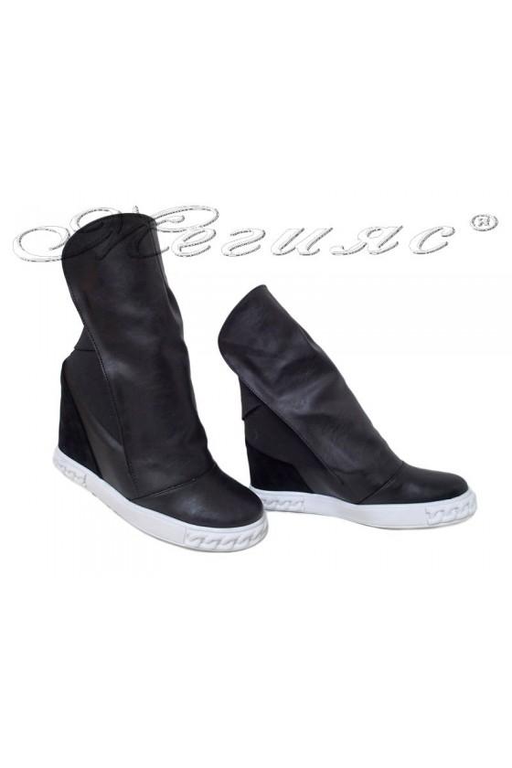 Women sport boots 031 black pu