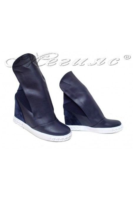 Women sport boots 031 blue pu