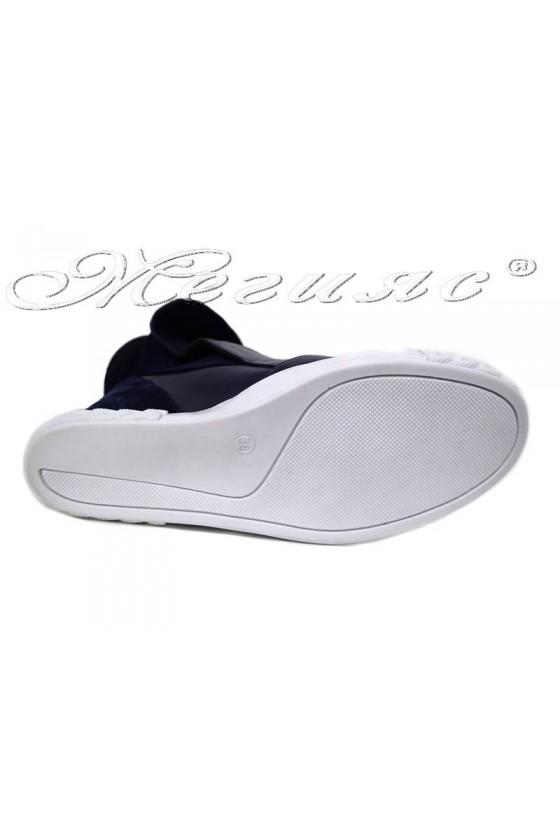 Women sport boots 031 blue pu
