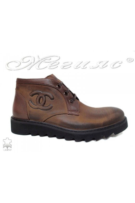 Man boots 5016 lather brown