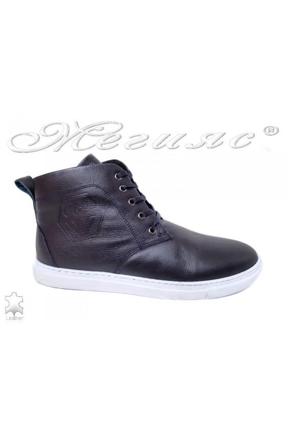 Man boots 501 dark blue lather