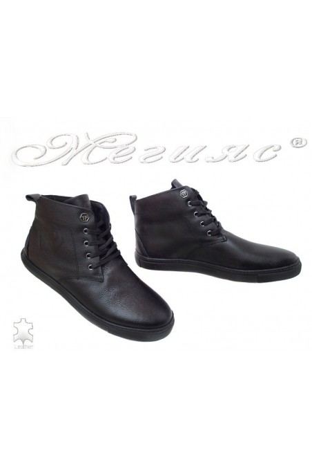 Man boots 501 black lather