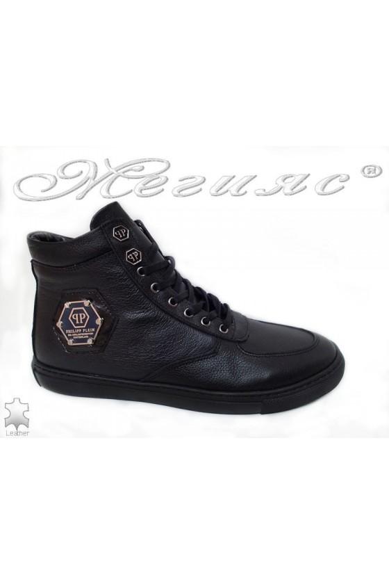 Man boots 502 black lather