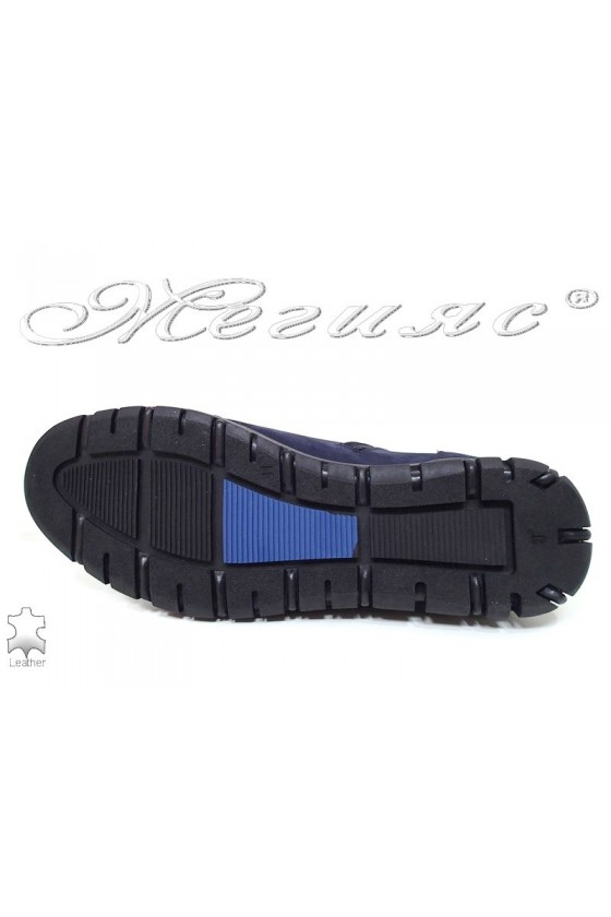 Man boots 305 Sharp blue suede