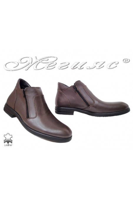 Man elegant boots 005 sharp brown