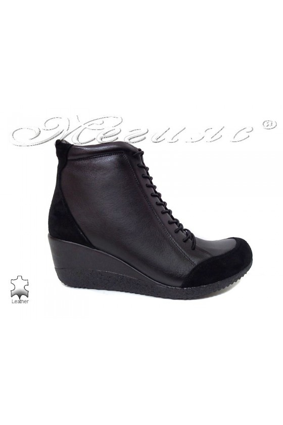 Lady boots 1708 black leather
