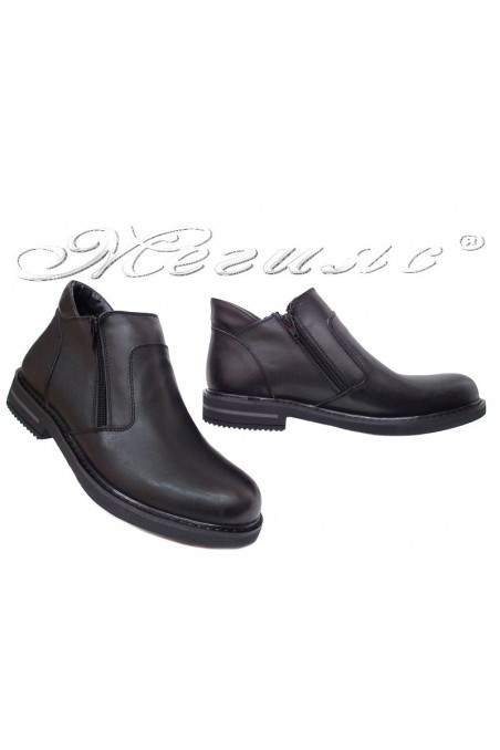 Men boots 025 black leather